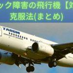 パニック障害の人が飛行機を克服する対策